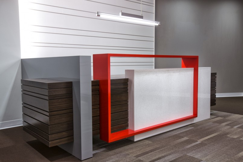 Carpentry work inpro concepts design for Office counter design