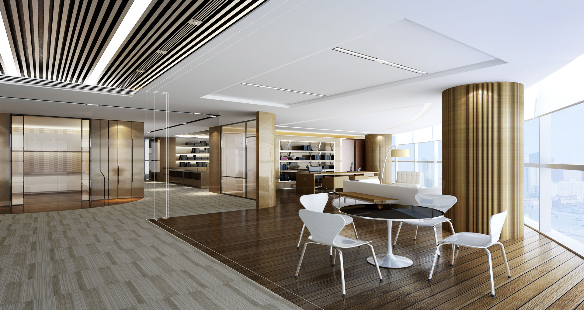 Office interior design inpro concepts design for Modern interior design for office